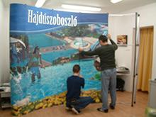 Sajtóhátfal (PopUp) - Polgármesteri Hivatal, Hajdúszoboszló